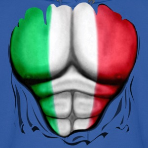 Italy Flag Ripped Muscles, six pack, chest t-shirt - Men's Hoodie