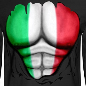 Mexico Flag Ripped Muscles, six pack, chest t-shirt - Men's Long Sleeve T-Shirt