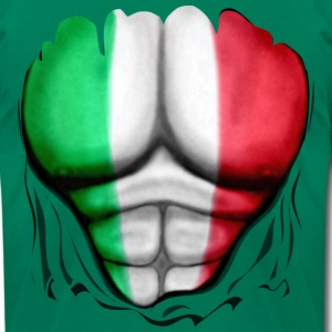 Mexico Flag Ripped Muscles, six pack, chest t-shirt - Men's T-Shirt by American Apparel