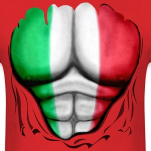 Mexico Flag Ripped Muscles, six pack, chest t-shirt - Men's T-Shirt