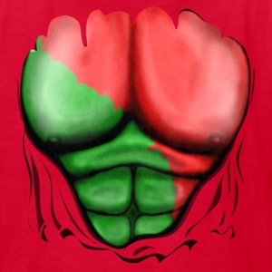 Portugal Flag Ripped Muscles, six pack, chest t-shirt - Kids' T-Shirt