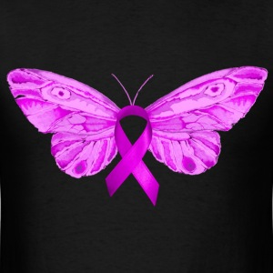 BUTTERFLY :: PINK RIBBON - Men's T-Shirt
