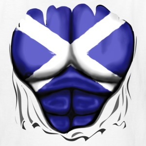 Scotland Flag Ripped Muscles, six pack, chest t-shirt - Kids' T-Shirt