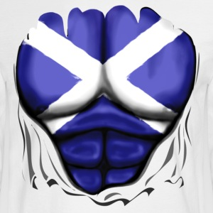 Scotland Flag Ripped Muscles, six pack, chest t-shirt - Men's Long Sleeve T-Shirt