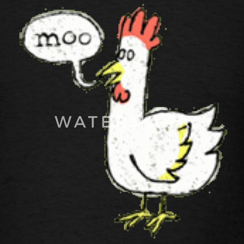 Moo? Shirt - Men's T-Shirt