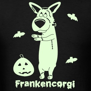 Frankencorgi Glow In the Dark T-Shirt - Men's T-Shirt