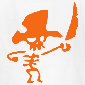 White Pirate - Skeleton - Kids' T-Shirt