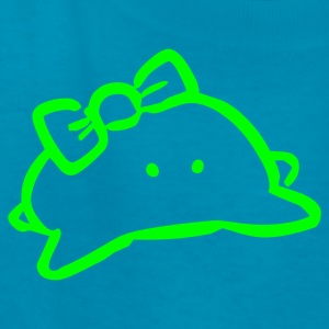 Turquoise Cute Monster Kids' Shirts - Kids' T-Shirt
