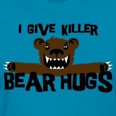 Light blue Killer Bear Hugs Women's T-Shirts