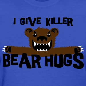 Light blue Killer Bear Hugs Women's T-Shirts - Women's T-Shirt