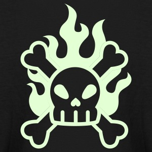 Glow in the dark skull & crossbones - Kids' Long Sleeve T-Shirt