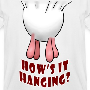 White How's it Hanging? T-Shirts - Men's Tall T-Shirt