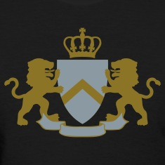 Black Heraldic Lions and Shield Women's T-Shirts