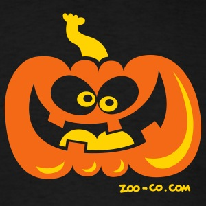 Black Smiling Pumpkin T-Shirts - Men's T-Shirt