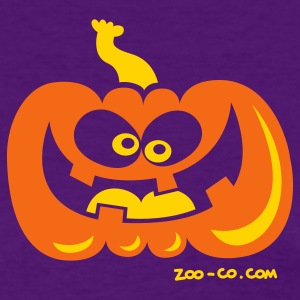Purple Smiling Pumpkin Women's T-Shirts - Women's T-Shirt