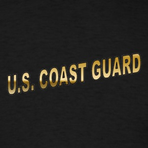 Black coastguard T-Shirts - Men's T-Shirt