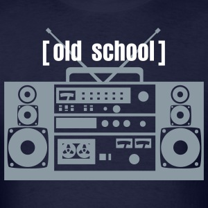 Old school, boombox - Men's T-Shirt