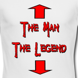 White The Man The Legend Long Sleeve Shirts - Men's Long Sleeve T-Shirt by Next Level