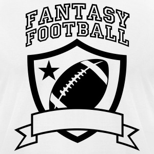 White fantasyfootball T-Shirts - Men's T-Shirt by American Apparel