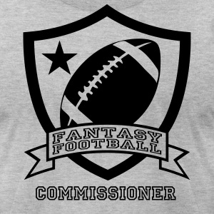 Heather grey fantasy football T-Shirts - Men's T-Shirt by American Apparel