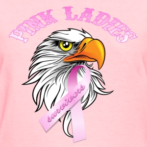 Pink Pink Ladies Eagle Head Cancer Survivor  Women's T-Shirts - Women's T-Shirt
