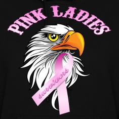 Black Pink Ladies Eagle Head Cancer Survivor  Hoodies