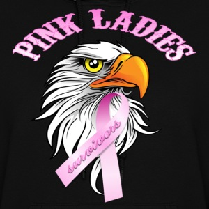 Black Pink Ladies Eagle Head Cancer Survivor  Hoodies - Women's Hoodie