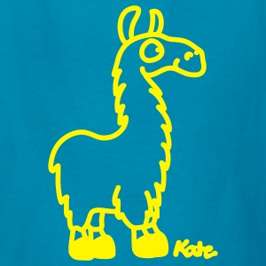 Orange Lama Kids' Shirts - Kids' T-Shirt
