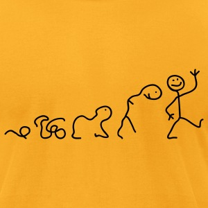 Gold Evolution of Line T-Shirts - Men's T-Shirt by American Apparel
