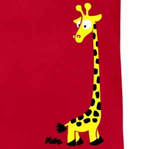 Orange Giraffe T-Shirts - Men's T-Shirt by American Apparel