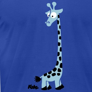 Royal blue Giraffe T-Shirts - Men's T-Shirt by American Apparel