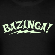 Design ~ NEW Limited Edition GLOW IN THE DARK BAZINGA T-Shirt - Halloween Edition
