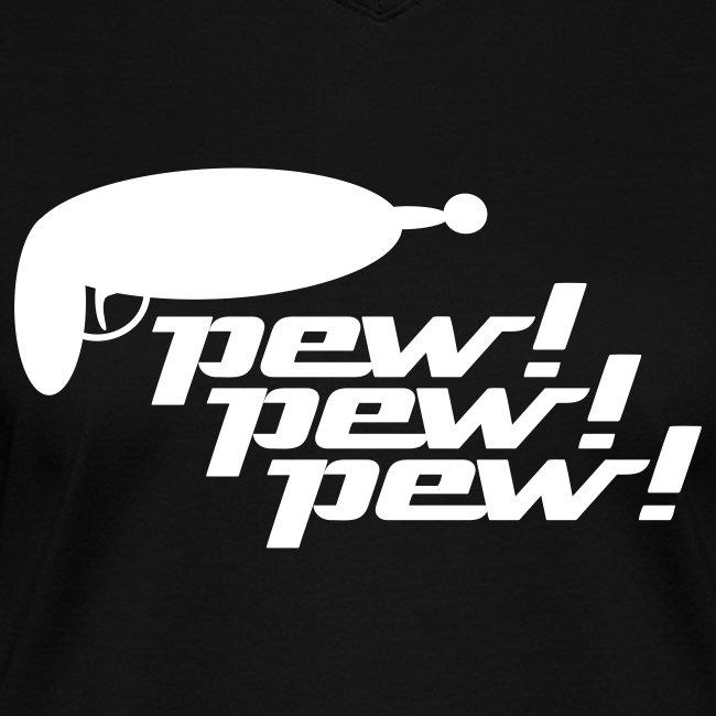 Pew! Pew! Pew! Ladies V-Neck Tee