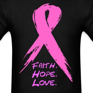 grunge ribbon awareness T-Shirts - Men's T-Shirt