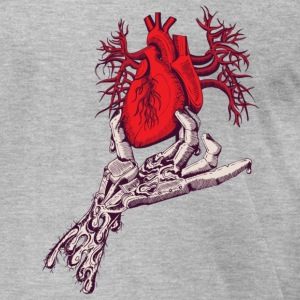 Heather grey heart in your hand T-Shirts - Men's T-Shirt by American Apparel