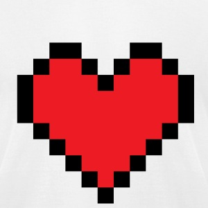 White huge pixel heart T-Shirts - Men's T-Shirt by American Apparel