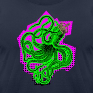 Navy king octopus T-Shirts - Men's T-Shirt by American Apparel