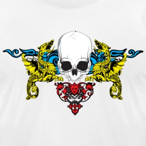 White skull crest T-Shirts - Men's T-Shirt by American Apparel
