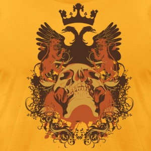 Gold skull crest T-Shirts - Men's T-Shirt by American Apparel