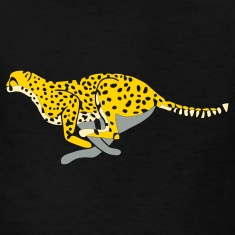 Black cheetah_running Kids' Shirts