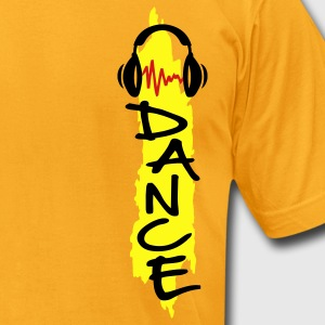 Gold dance T-Shirts - Men's T-Shirt by American Apparel