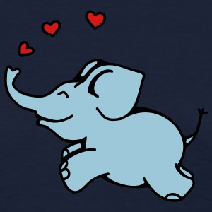 Navy Elephant in Love Women's T-Shirts - Women's T-Shirt