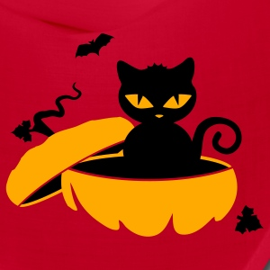 Red schwarze_katzeblack cat sits in a pumpkin Caps - Bandana
