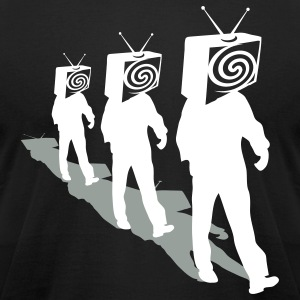Black Televized 3 T-Shirts - Men's T-Shirt by American Apparel