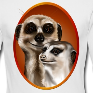 Two Cozy Meerkats - Men's Long Sleeve T-Shirt by Next Level
