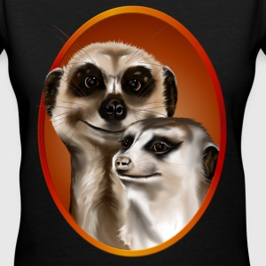 Two Cozy Meerkats - Women's V-Neck T-Shirt