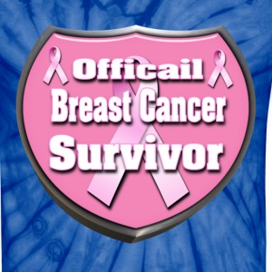 Spider navy Officail Breast Cancer Survivor Badge 3D T-Shirts - Unisex Tie Dye T-Shirt