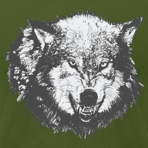 Olive Wolf T-Shirts - Men's T-Shirt by American Apparel