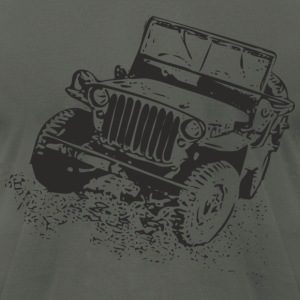 Asphalt jeep T-Shirts - Men's T-Shirt by American Apparel