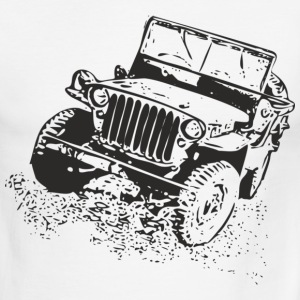 Red/white jeep T-Shirts - Men's Ringer T-Shirt